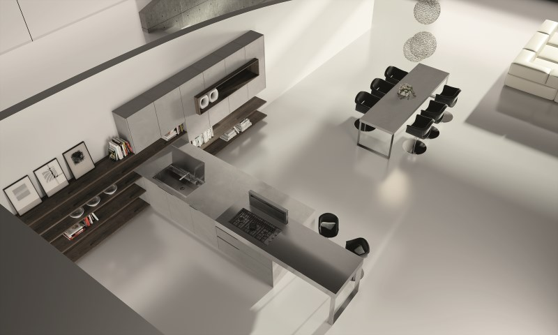 Contemporary Kitchens | Lineaquattro Signum Onda Range